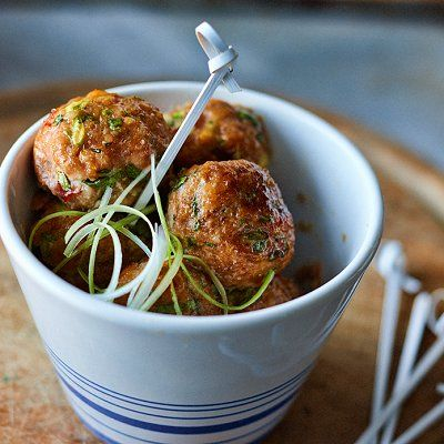 Thai turkey meatballs recipe - Choose ground turkey breast and enjoy!