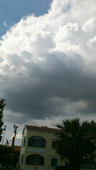 Clouds above Gouvia Corfu, Greece