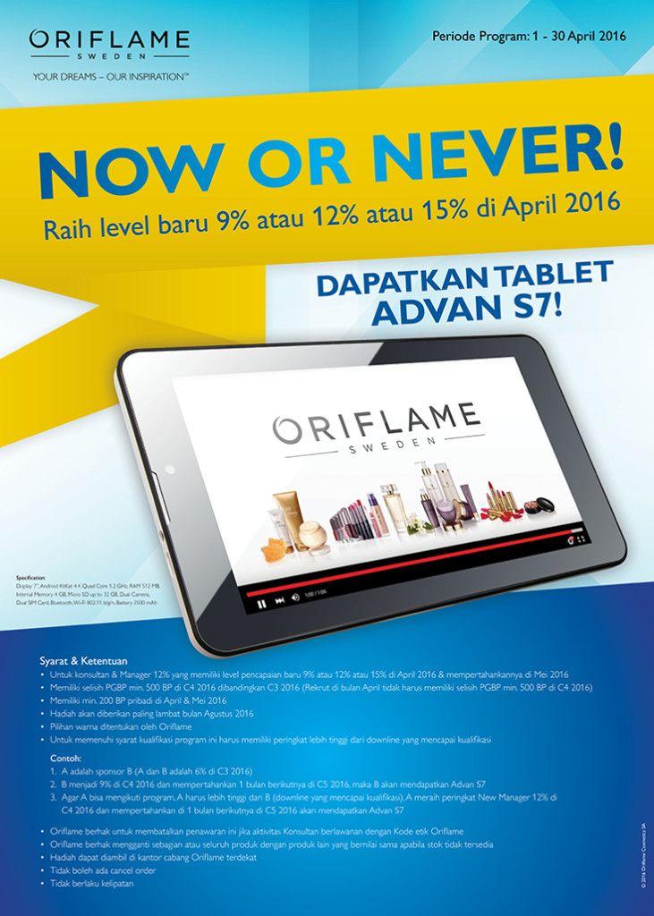Promo Tab Advan Gratis dari Oriflame