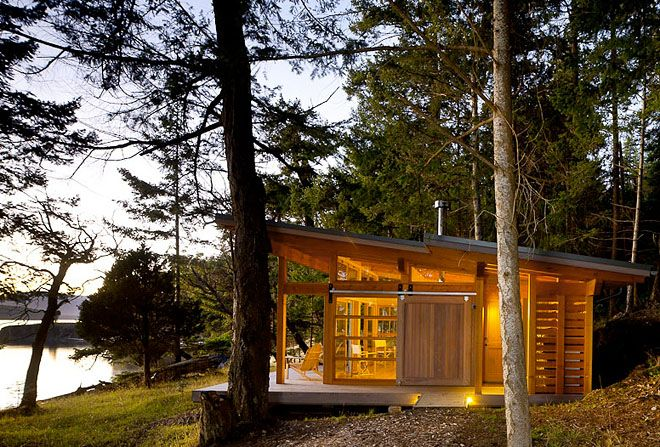 Osburn Clarke Productions Inc. out of Vancouver BC designed this cabin
