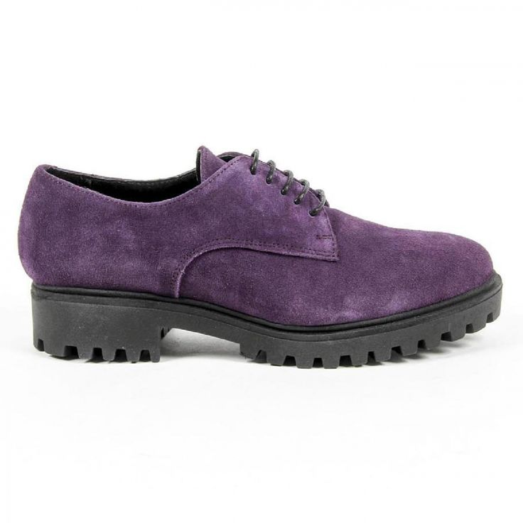 V 1969 Italia Womens Lace Up Shoe C01 CAMOSCIO VIOLA