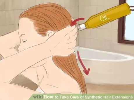 Image titled Take Care of Synthetic Hair Extensions Step 20