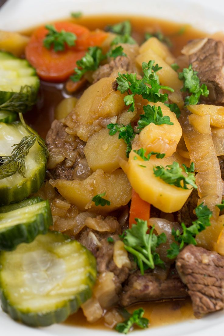 Sailor's beef is one of the great classics of Swedish cuisine. It gets its name from the fact that it can be cooked in one pot on a ship's galley, although it has become a popular dish now throughout Sweden.