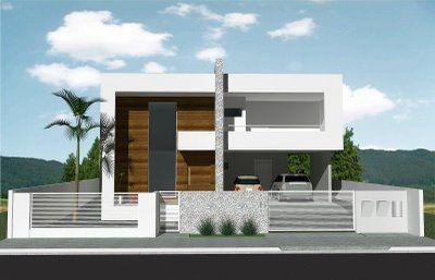 Muros de casas modernas fachadas modernas pinterest - Ideas para casas modernas ...