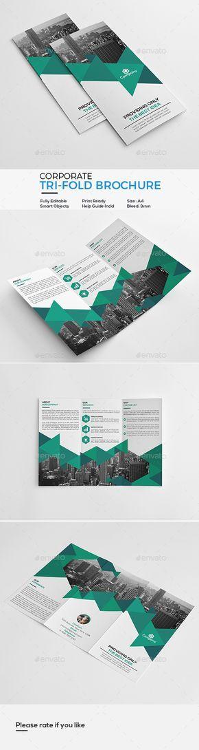 25+ unique Tri fold brochure design ideas on Pinterest Brochures - tri fold brochure