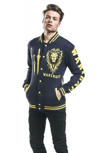 """Giacca uomo in stile College """"Alliance - Rise Up"""" del brand #Warcraft."""