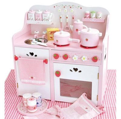 Houten Keukentje Aardbeien