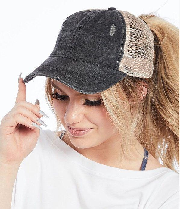 Ponytail Hat Vintage Hat Vintage Trucker Hat Baseball Cap Etsy In 2021 Hats For Short Hair Hat Hairstyles Baseball Cap Hairstyles