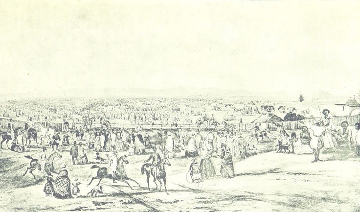 The Turning of the Turf of the First Australian Railway - Sydney 3 July 1850