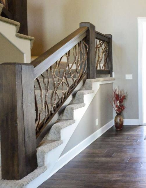 Best Stair Railing Made From Reclaimed Mountain Laurel Wood 100 400 x 300