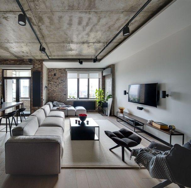 Индустриальная квартира в Киеве | PUFIK. Beautiful Interiors. Online Magazine