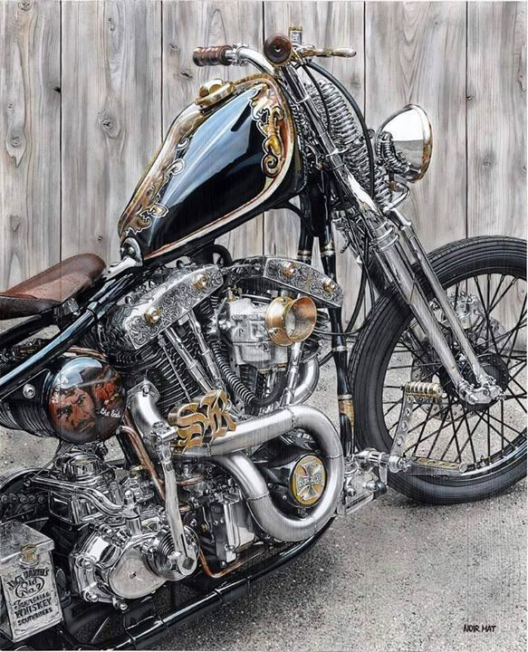 This is some amazing attention to detail! Know any other bikes this good? - More at Choppertown.com