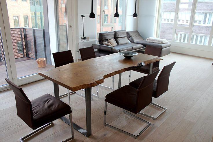 Tischplatte Massivholz Baumkante ~  Baumkante Tischplatte unverleimt aus einem Stück  HolzwerkHamburg