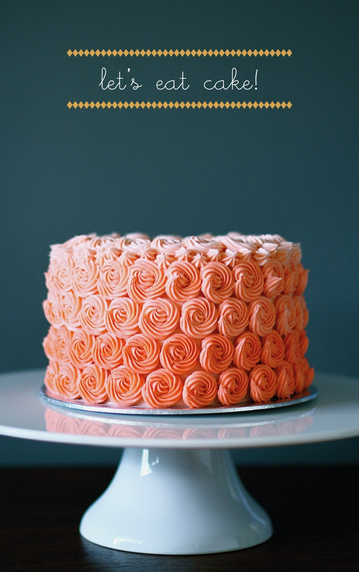My finale rosette cake from Wilton decorating basics class!