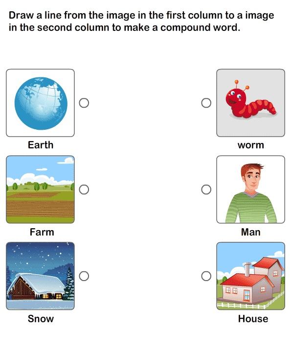 Compound words worksheets kindergarten pictures
