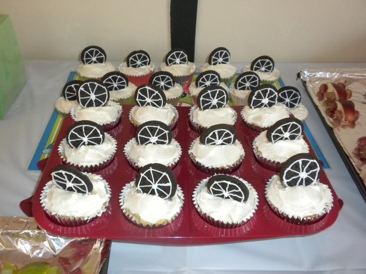 Oreo Tire Cupcakes Aces First Birthday Ideas Pinterest