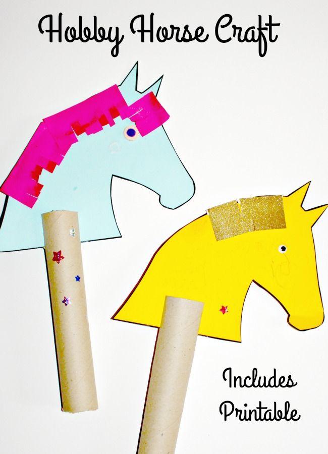 Messy Little Monster: Hobby horse craft (FREE PRINTABLE) for kids.  Horsie horsie nursery rhyme
