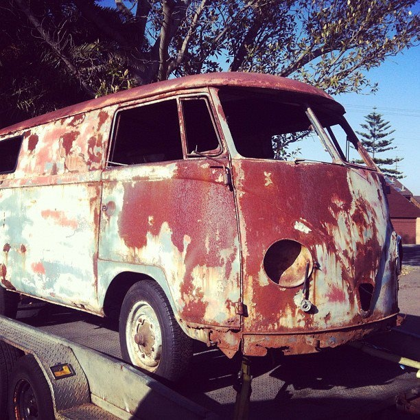 Our new 1956 VW Kombi van! Ready to be restored & put in our offices to hang out it.