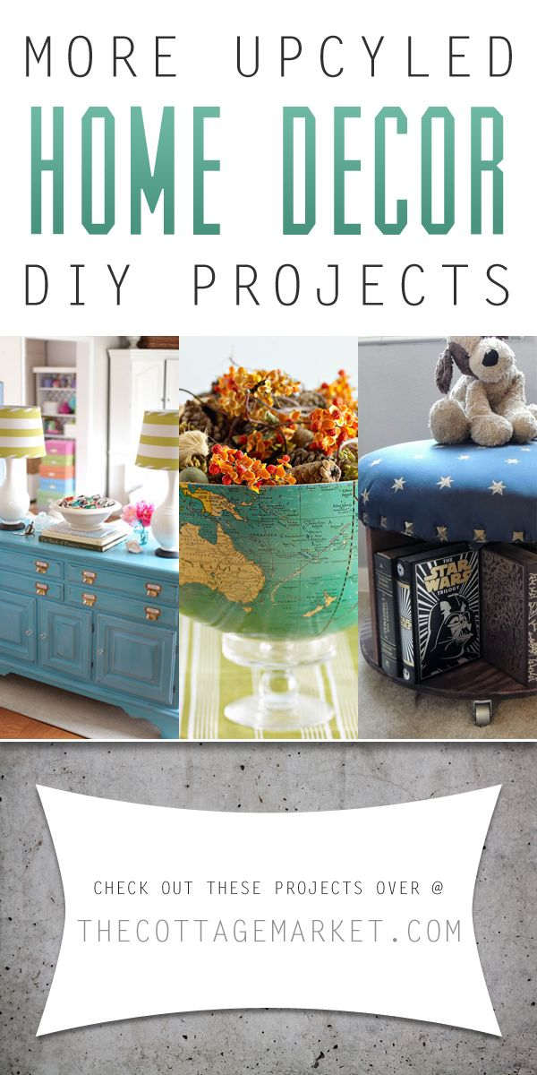 More Upcycled Home Decor DIY Projects - The Cottage Market