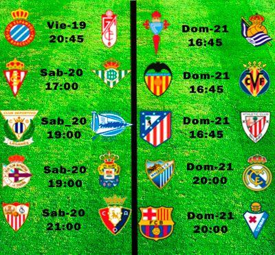 La Liga Full: Horario Jornada 38 mas aplazado