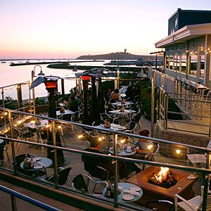 Best location!! Sam's Chowder House - Half Moon Bay, CA. Known for their lobster rolls and clam chowder!