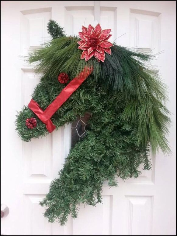Artificial Greens Horse Head Wreath Source Unknown