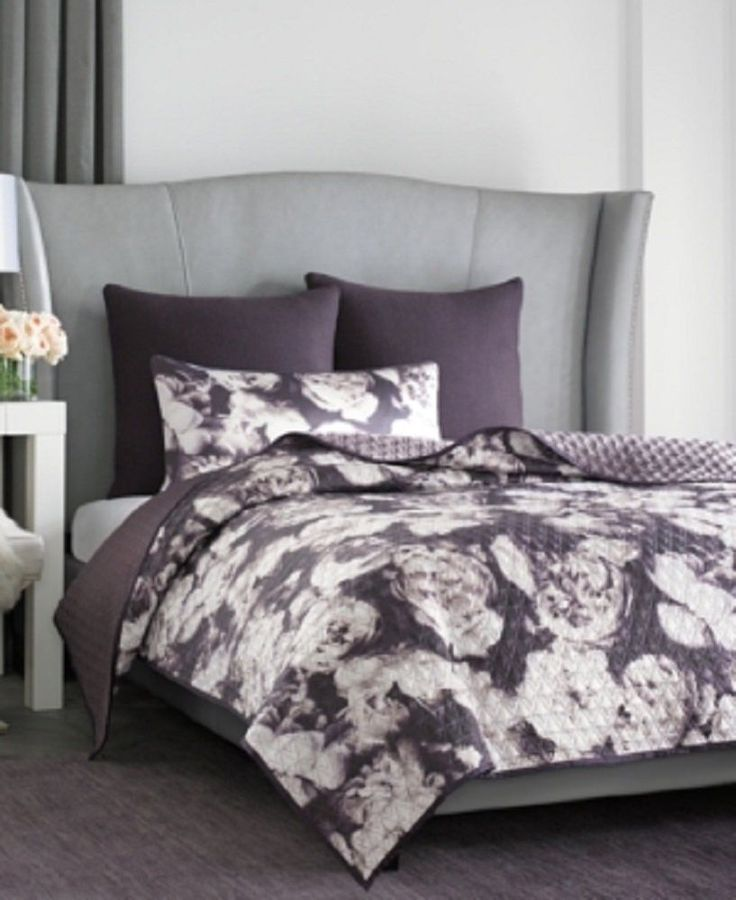 Vince Camuto Home Photo Real Floral Queen Printed King Size Coverlet #VinceCamuto