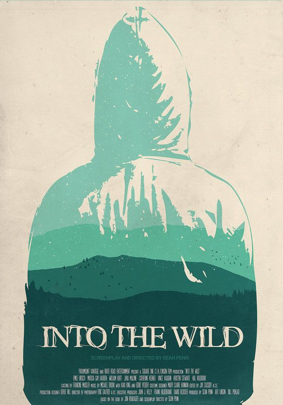 Into the Wild poster minimalist movie poster by OurBrokenHouse