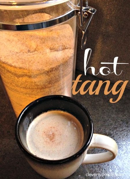 Hot tang! This time of year, a warm drink is a happy addition to any morning. My husband does not drink coffee, and so this is his drink of choice. His mom has been making it for years and it's a highlight to his fall. This citrus tang hot drink brings a bit of summer …