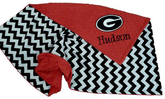 Minky Blanket Georgia Bulldogs Personalized /Plz by made4yougifts, $41.95