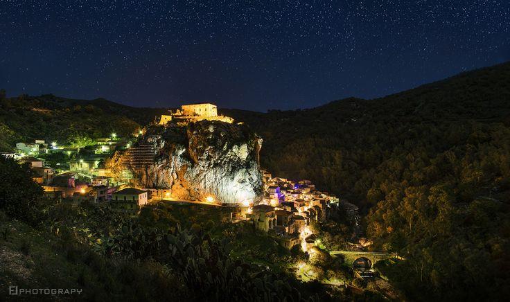 In a Dream by Fabio Lamanna on 500px  #Aspromonte #bosco #calabria #cityscape #d600 #dream #fabio #lamanna #landscape #lights #nice #night #night photography #nightscape #nikkor #nikon #notte #rocca #rock #shadow #stars #woods