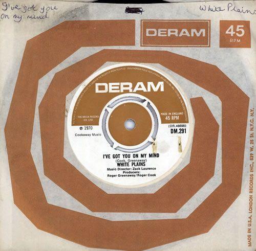 "White Plains I've Got You On My Mind 7"" vinyl single (7 inch record) UK 5WP07IV569640"
