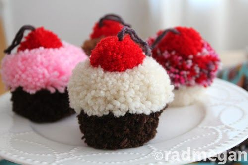 Pom-Pom Cupcakes for Kids Craft 123 - Radmegan