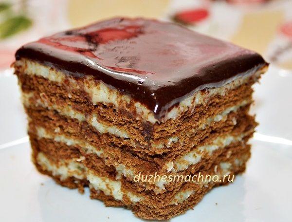 МЕГА-БЫСТРЫЙ торт БЕЗ ВЫПЕЧКИ с кокосовым кремом – безумно вкусно!   Вкусные рецепты