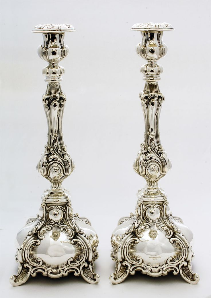 Silver Judaica - Candlesticks, Ben Yehoda. For more Shabbat Inspiration, visit http://anishoshana.com/shabbat-inspiration or follow @ANISHOSHANA on Instagram