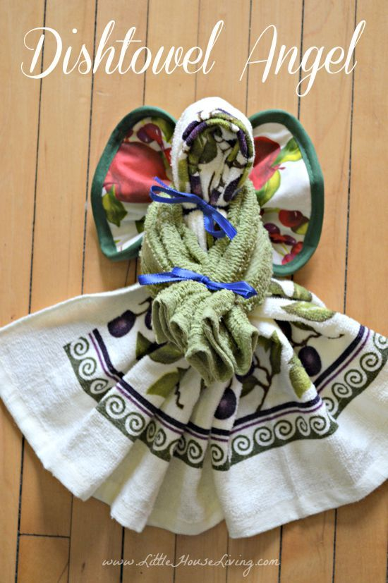 Need a cute but inexpensive gift to make? These little Dishtowel Angels are sweet and easy!