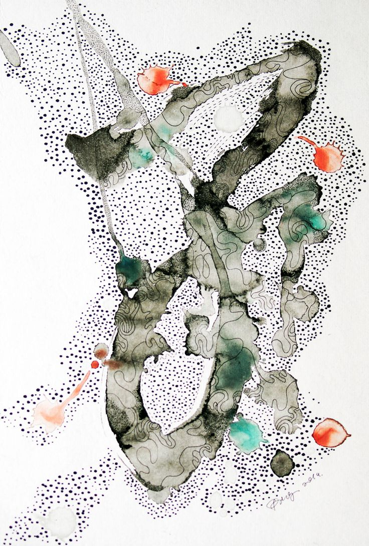 """""""Galaxy"""", 2014, Painting on rice paper with Chinese ink, Chinese pigments and ink pen, 22 x 30 cm-Studio Ding Yi"""