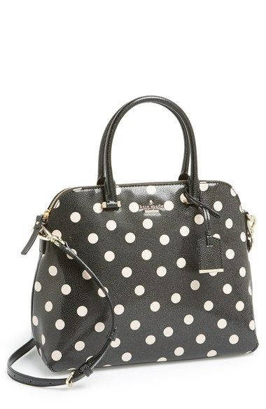 Free shipping and returns on kate spade new york 'cedar street dot - margot' satchel at Nordstrom.com. Signature dots highlight the crisp, vintage-inspired silhouette of a pebbled satchel accented with polished goldtone hardware and topped with an optional crossbody strap. $298