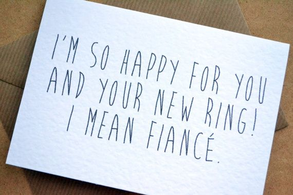 Engagement Card  Congratulations Greetings Funny by AmysAvenueUK