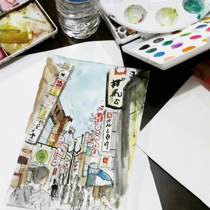 #urbansketch #sketch #japan #shinsaibaishi