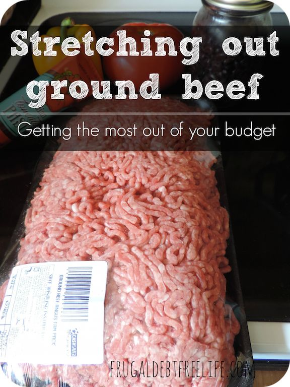 Meat prices keep going up, up, up. Here are some tips to stretching your budget by stretching out ground beef.