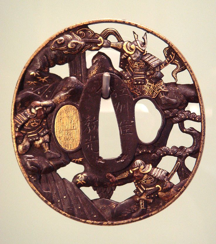 Edo period Tsuba (Guard for Japanese Sword)