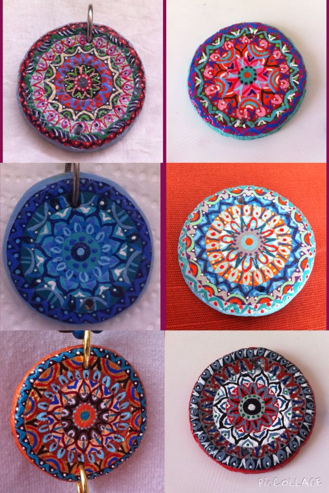 Paper mache mandala paint by hand. Can be order in different colors/shapes  For sale!