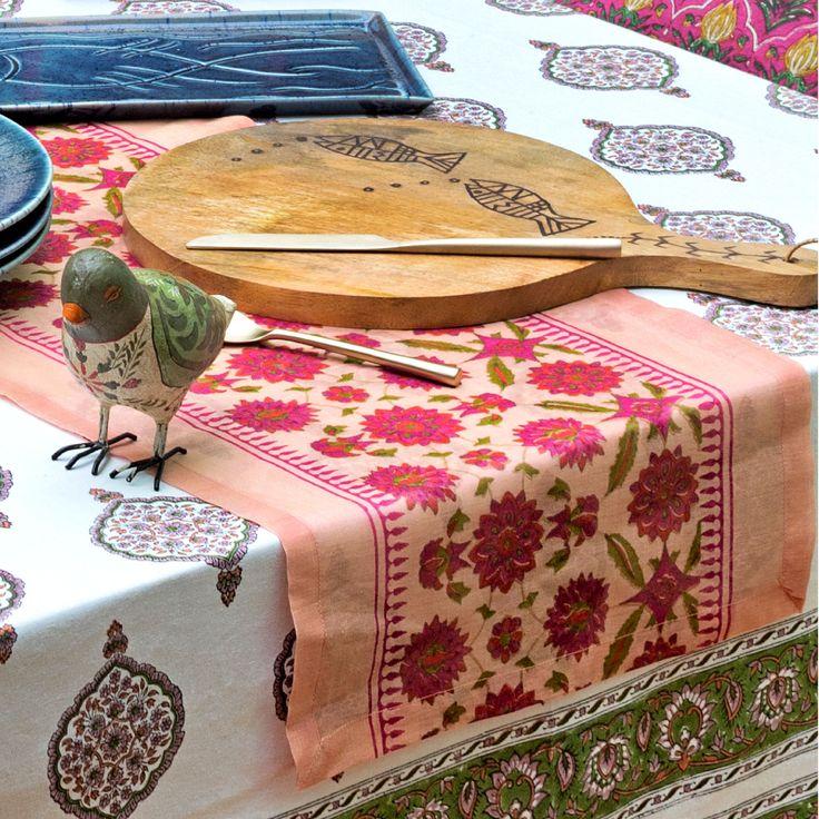 #Tableware #dining #home #lifestyle #tablecloth #runner #decor #blockprints #Fabindia