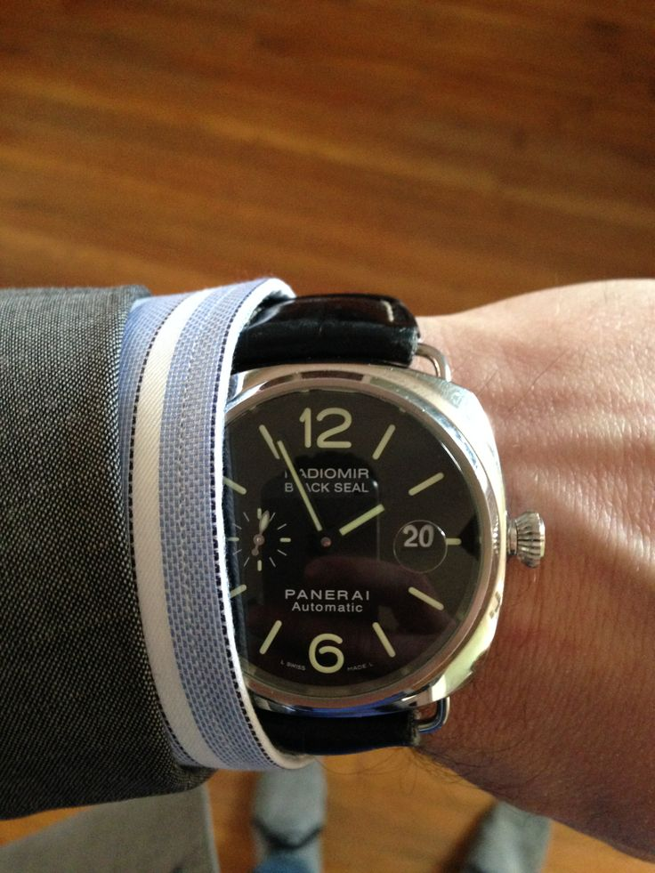 Panerai Black Seal featuring the Imperial Black Cortina Shirt.