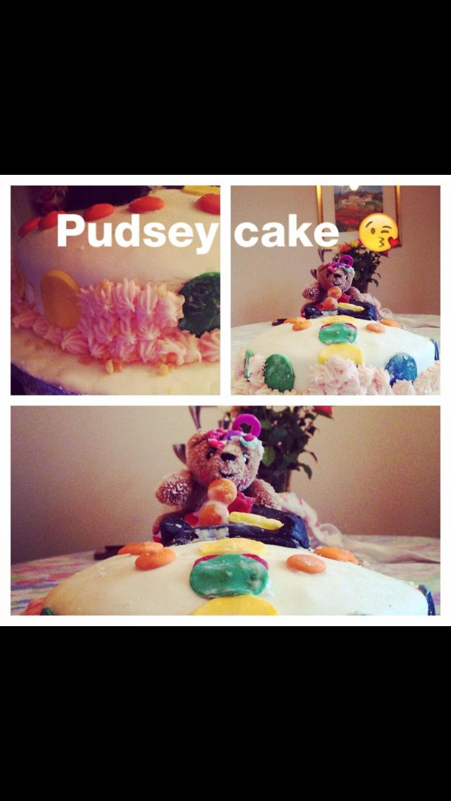 Pudsey cake I made for children in need #cake #bake #pudsey