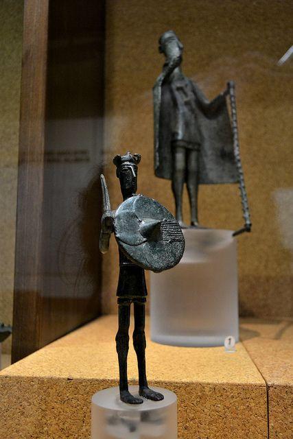 Nuragic votive figurines - Warrior    Bronzes of the Nuragic age    National Archeological Museum - Cagliari