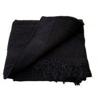 Tenture Kérala plaid couvre-lit noir