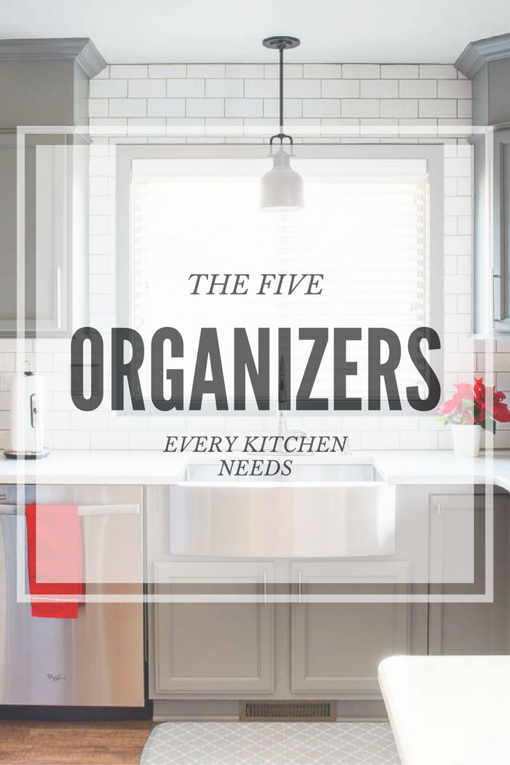 For every minute spent organizing, an hour is earned. Learn how these five organizers can save you time and frustration in the kitchen!