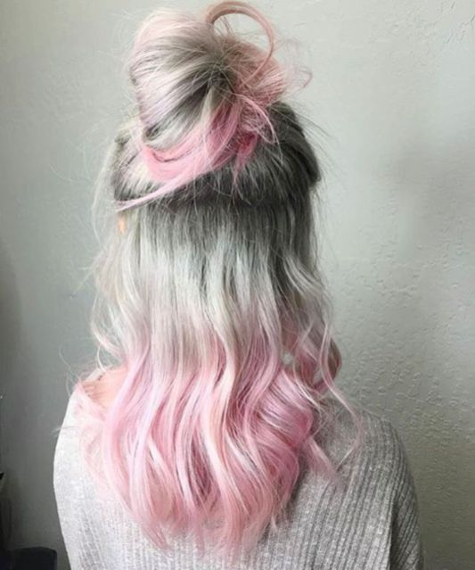 Trendy Silver Rose Hairstyle Colour (23)